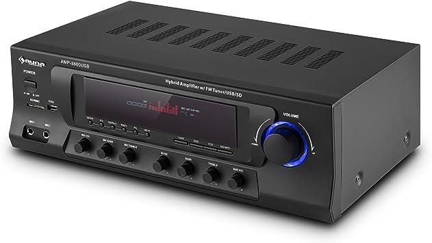 auna AMP-3800 USB Black Edition: Amazon.es: Electrónica