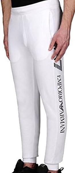 Pantalón de chándal para hombre, Emporio Armani EA7 blanco L ...