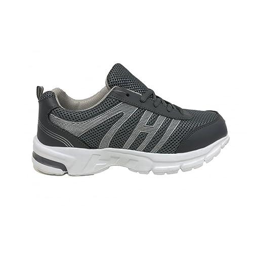 edbd6b4849 AXA Scarpe Uomo Sneakers Tela Grigia 78046A Grigio: Amazon.it: Scarpe e  borse