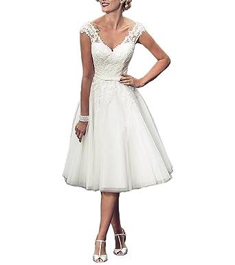 Dreamydesign Traumhaft A Linie V Ausschnitt Tull Hochzeitskleid