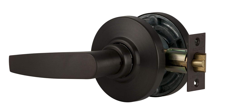 Storeroom Function Antique Brass Finish Jupiter Lever Design Schlage commercial AL80PDJUP609 AL Series Grade 2 Cylindrical Lock