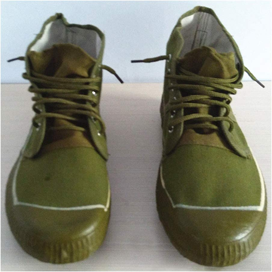 JIUZHOUTONG Army Green Chinese Army PLA Type Liberation Shoes Boots