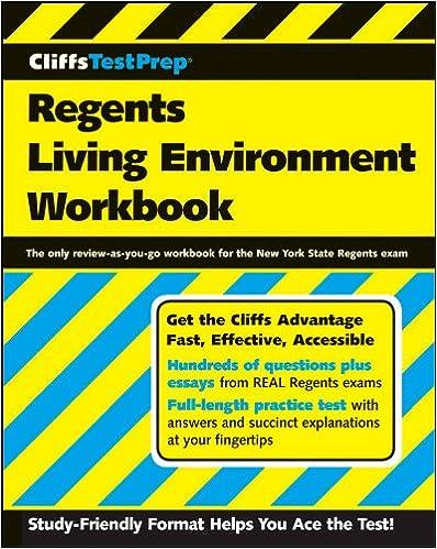 CliffsTestPrep Regents Living Environment Workbook: American ...