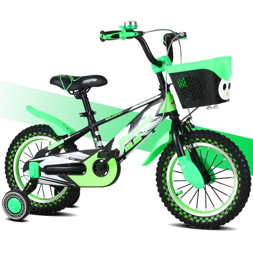 HAIZHEN マウンテンバイク 子供の自転車のサイズオプション12インチ14インチ16インチ18インチマルチカラーの選択 新生児 B07CCJY7R4緑 14 inches