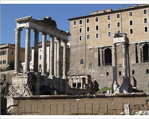 Photographic Print of Ruins of an ancient Roman - Ceasars Forum