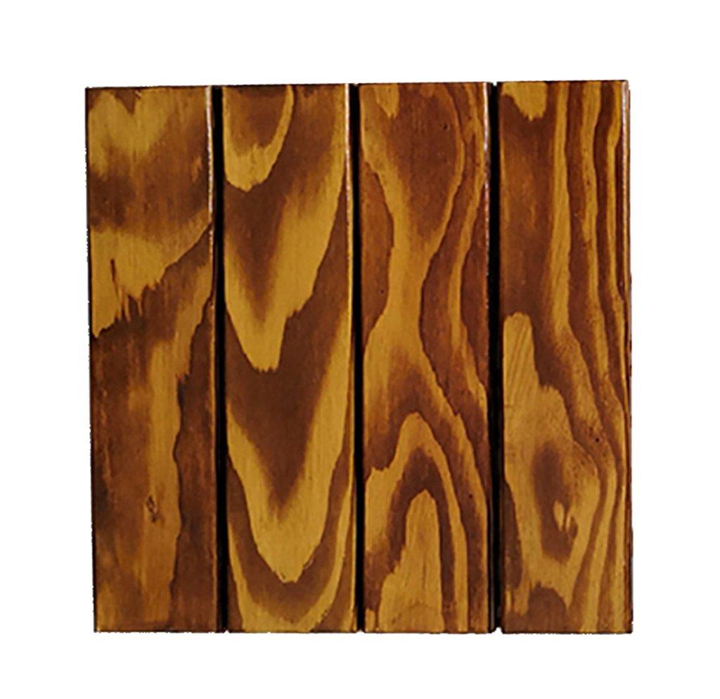 フローリング木製床、屋外パティオ庭テラスPreservativeソリッド木製モザイク床、ソリッド木製self-pelled正方形床内部バルコニーバスルーム木製slip-proof DIY床 30 * 30 * 2.5cm B07DN55XWJ B 30*30*2.5cm