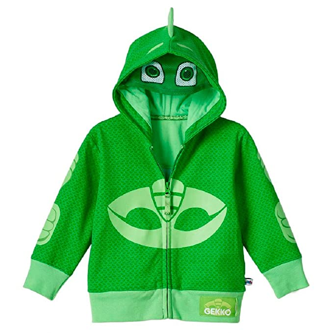 PJ Masks Gekko Toddler Boy Fancy dress costume Hooded Sweatshirt 5T