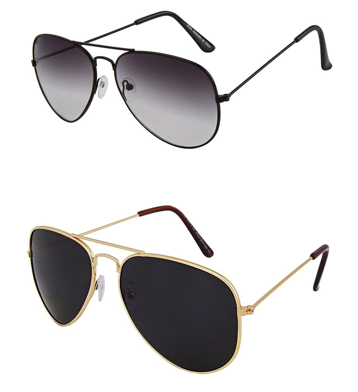 534920d8298 Shvas Uv Protected Aviator Unisex Sunglasses(Avgreyavgblack