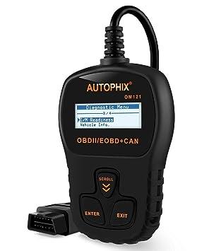 Autophix OM121 OBD2 Escáner Lector de Códigos Para Leer Y Borrado de Coche Código del Motor,Herramienta de Análisis de Diagnóstico: Amazon.es: Coche y moto