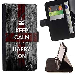 Cat Family ???¡¯?¡??nico Dise???¡¯???¡Ào caja de la PU billetera de cuero - FOR Samsung Galaxy S4 IV I9500 - Keep Calm And harry On -