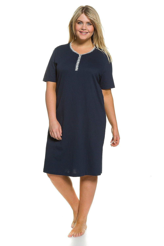 Ulla Popken Women's Plus Size 2-Pack Cotton Sleep Tees Nightgowns 706039