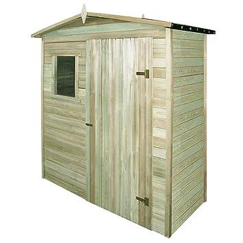 SENLUOWX Caseta de Almacenaje de Madera de Pino para Guardar Herramientas de Jardín 200x100x210 cm: Amazon.es: Jardín
