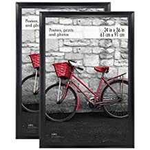 MCS Premium Wide Scoop Poster Frame, 24 by 36-Inch, Black, 2-Pack