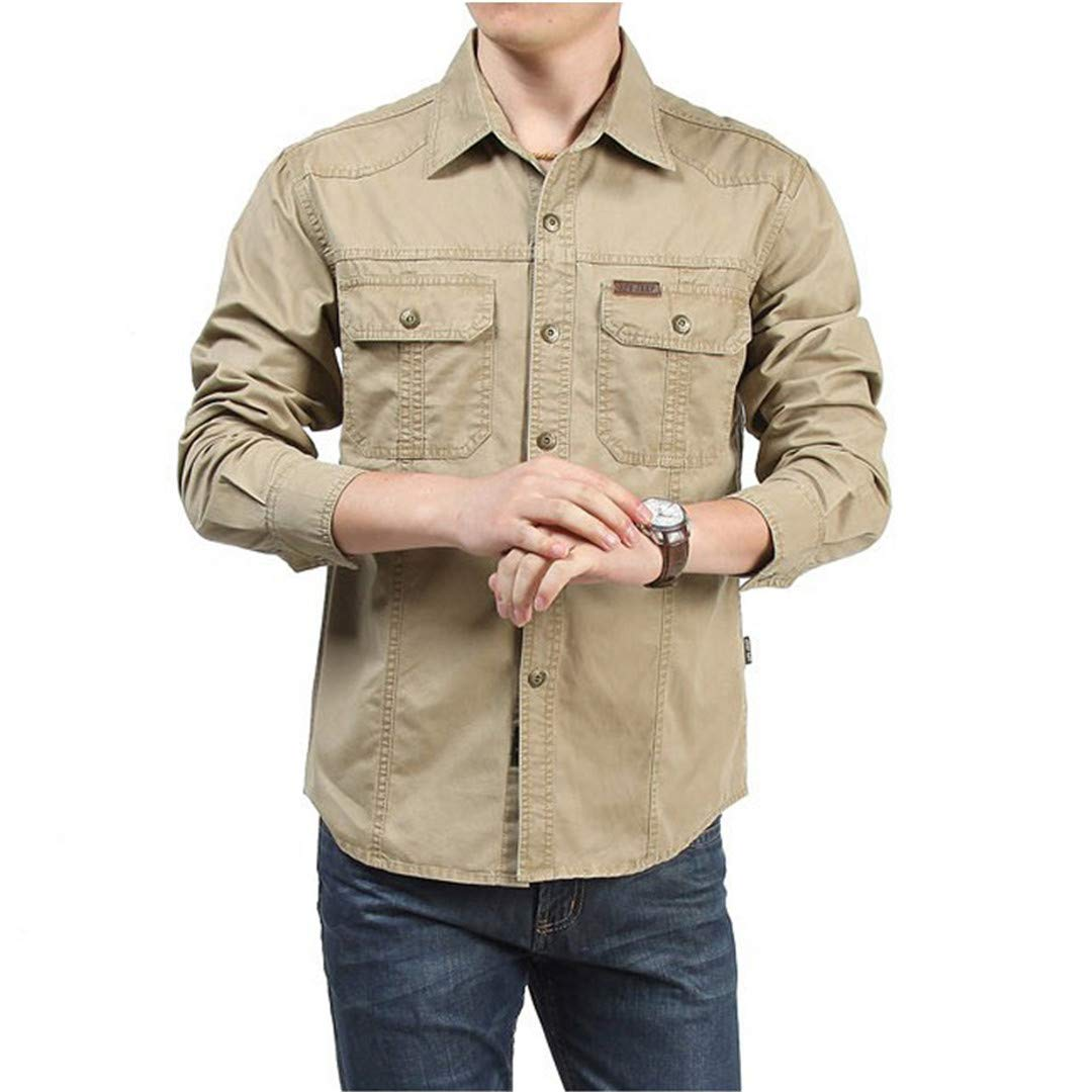 Tactical Shirt Men Clothes Spring Autumn Military Dress Shirt Cotton Long Sleeve Army Casual