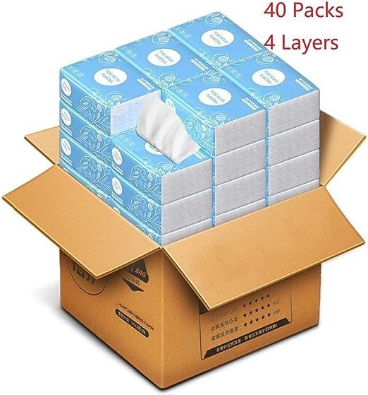 WJC 40 Paquetes de Papel servilleta En una Caja, 4 Capas de ...