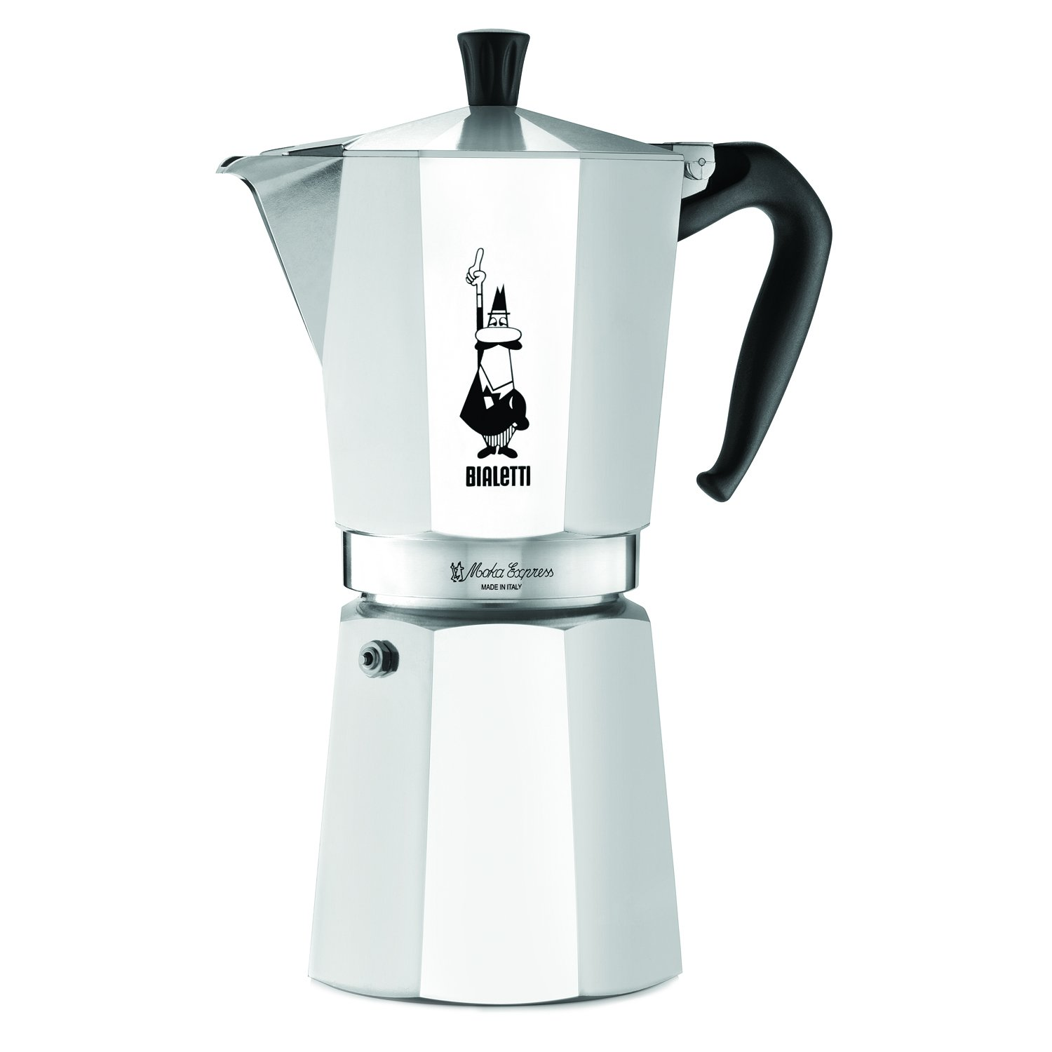 Bialetti 12 Cup Moka Express Stovetop Espresso Coffee Maker Pot Latte 24 ounce 06853