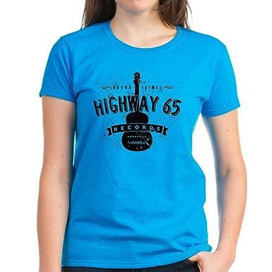 CafePress Highway 65 Records Nashville Womens Cotton V-Neck T-Shirt