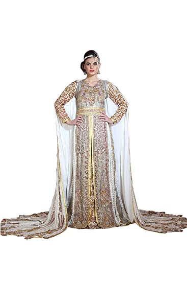 4fd4ee274bf PalasFashion Palas Fashion Women s Modern Moroccan Wedding Long Sleeve  Dress Kaftan UK Size 6