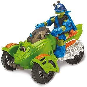 Turtles Teenage Mutant Ninja Turtles AT3Vehicle and Leonardo (GIOCHI PREZIOSI 40003)