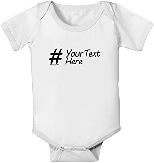 Iliogine Personalized Hashtag Baby Bodysuit Shirt for Newborn Baby Girls Boys