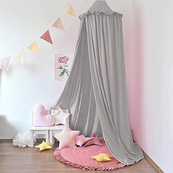 Minetom Baby Baldachin Betthimmel für Kinder Bett Chiffon Hängende Moskiton  für Schlafzimmer Ankleidezimmer Spiel Lesen Zeit Dekoration für Bett und ...