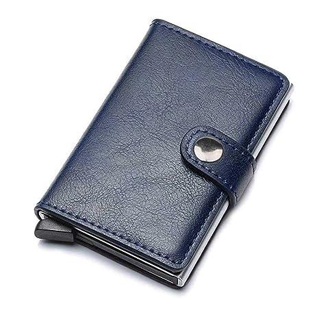 Pawaca - Tarjetero para Tarjetas de crédito, Billetera con Bloqueo RFID, Minimalista, Piel