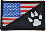 USA Flag / Tracker Paw Scout Emblem 2.25x3.5 Morale Patch - Multiple Color Options (Full Color)