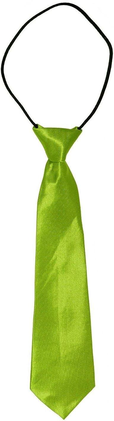 Boys//Kids//Childrens Satin Tie NeckTie Elastic Wedding Prom Party School Gift New