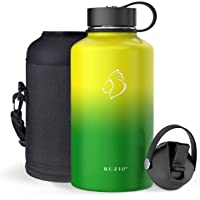 BUZIO Stainless Steel Water Bottle, BPA Free & Vacuum Insulated with Straw Lid and Flex Cap(Cold for 48 Hrs, Hot for 24…