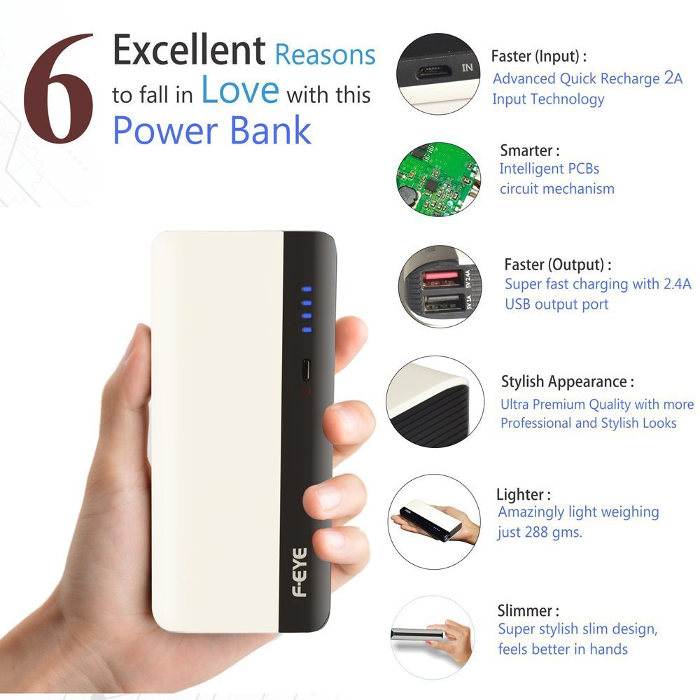 F Eye 13000mah Portable Charger Power Bank Dual Usb Pcb Layout Of Mobile Phone And Ipod Battery Circuit Electronics