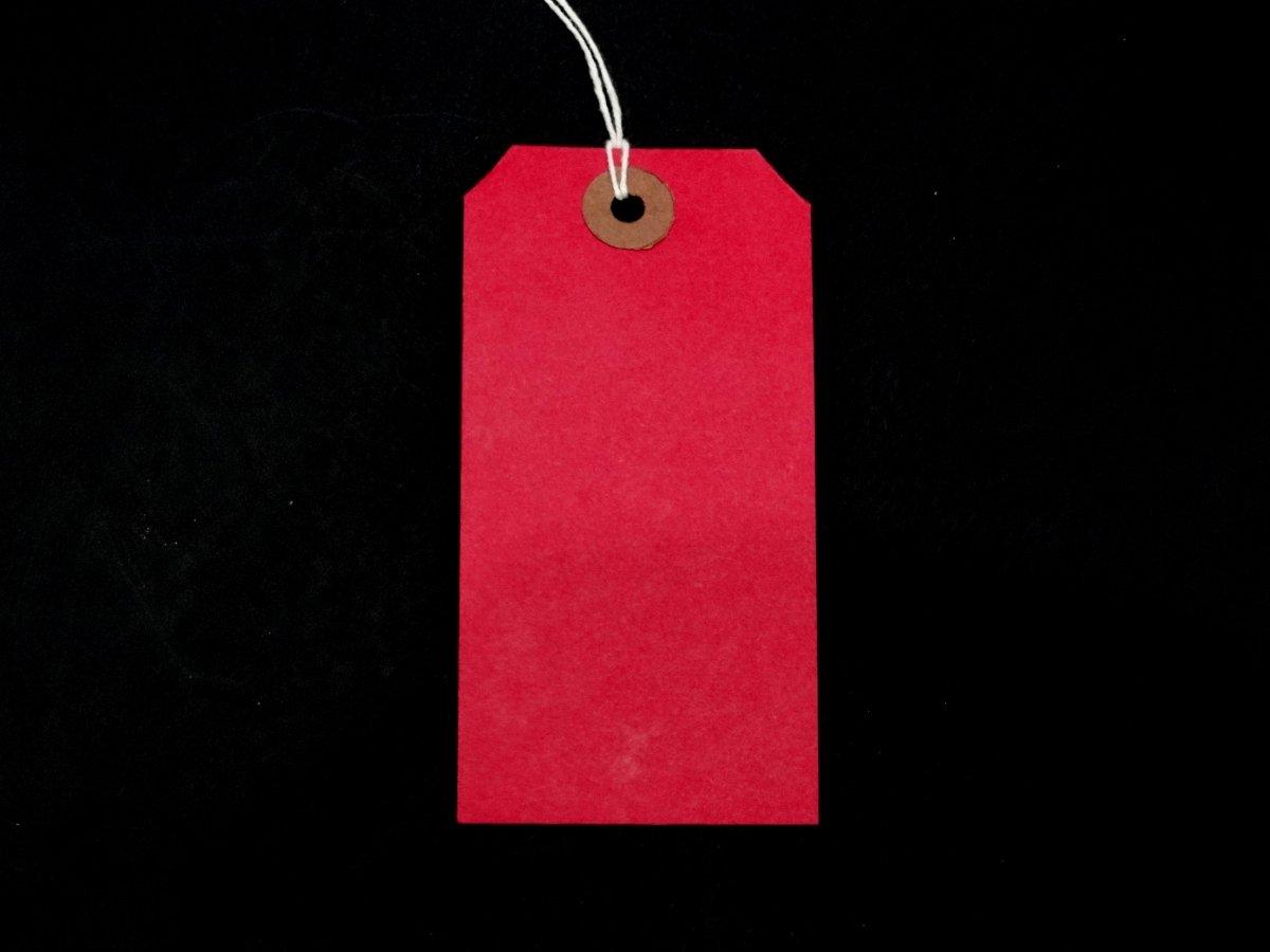 Étiquettes avec ficelle-Rouge - 120 mm x 60 mm-Étiquettes à bagages renforcées Tie Corde Lot de 1000 étiquette lierre