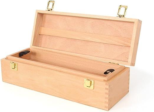 DELLT- Cuadro de pintura Suministros de arte Caja de herramientas portátil de madera pequeña Cuadro de pintura al óleo de haya Caja de herramientas de pintura: Amazon.es: Hogar