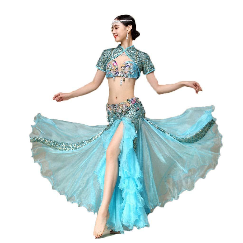 最安値に挑戦! 大人の女性のベリーダンスの衣装の衣装のブラのスーツセットスパンコールベストパフォーマンス B07PGV1MHB S B07PGV1MHB s|Lake blue Lake S blue S blue s, 表札マイスター:568cb3ea --- a0267596.xsph.ru