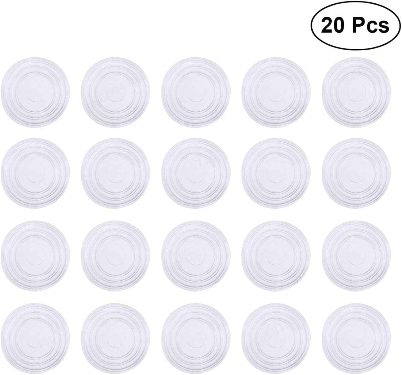 20pcs de Silicona DeoMeat Muebles Pies Antideslizantes Pad para Proteger el Piso de Vidrio