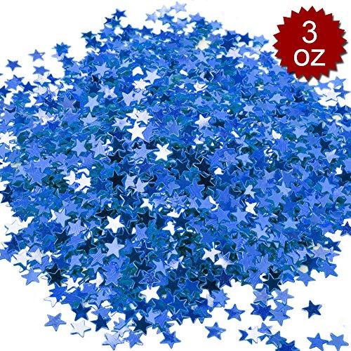 (Aspire 3oz Glitter Star Table Confetti, 6000PCS Premium Metallic Birthday Party Wedding Decoration-Blue)