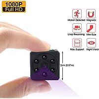 Mini Kamera, Zarsson Spion Versteckte Kameras Spy Cam Kamera Überwachung Nanny Cam mit HD 1080P Video, Bewegungserkennung, Nachtsicht, Fotografieren und Unterstützt 32GB SD Karte