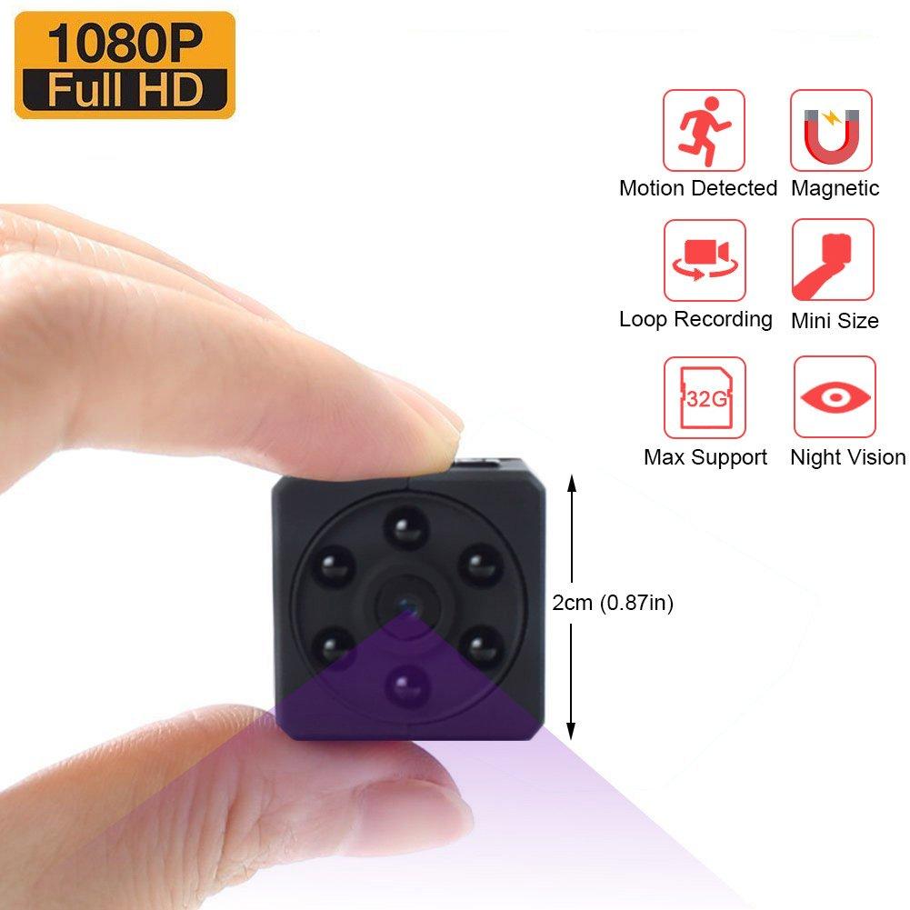 Mini Kamera, Zarsson Spion Versteckte Kameras Spy Cam Kamera Ü berwachung Nanny Cam mit HD 1080P Video, Bewegungserkennung, Nachtsicht, Fotografieren und Unterstü tzt 32GB SD Karte