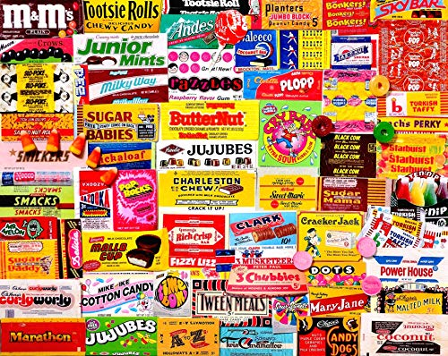 - White Mountain Puzzles Candy Wrappers - 1000Piece Jigsaw Puzzle