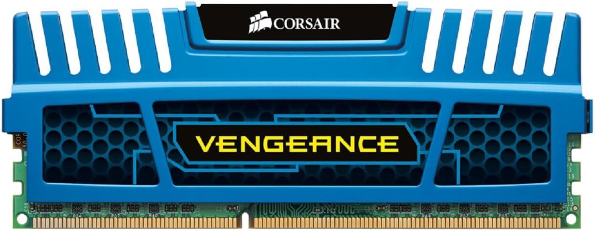 Corsair CMZ16GX3M2A1600C10B Vengeance Memoria per Desktop, 16 GB (2x8 GB), DDR3, 1600 MHz, CL10, con Supporto XMP, Blu