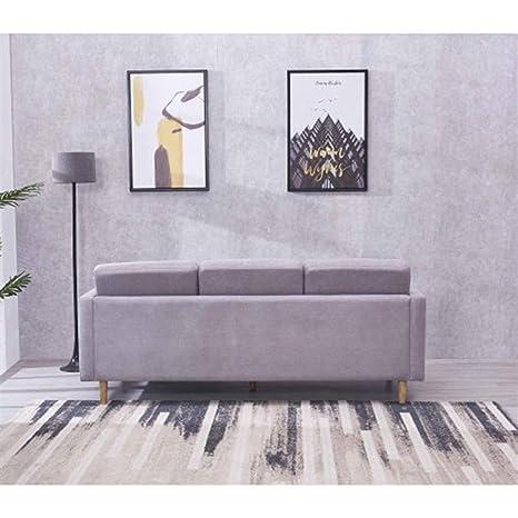 Xiong Xu Sofá, Sofá de Tela seccional Chaise Modern de ...