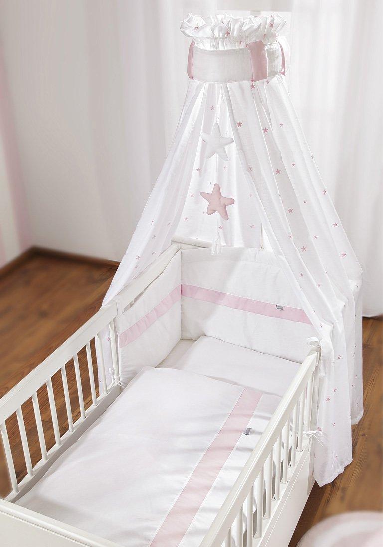 Christiane Wegner 0310 00-552 Bett-Set für Kinderbett, weiss-rose