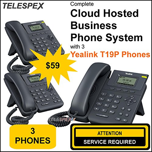 LIMITED TIME OFFER - BUY 1 VOIP PHONE AND GET 2 FREE - TELESPEX Cloud Business Phone System with 3 Phones - (800) ()