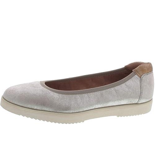 Tamaris Ballerina Silber: : Schuhe & Handtaschen