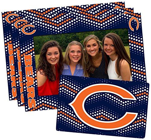 NFL Chicago Bears Magnetic Frame & Bonus Magnet, 3 Pack, Blue, 4-inch by - Photo Team Chicago Bears