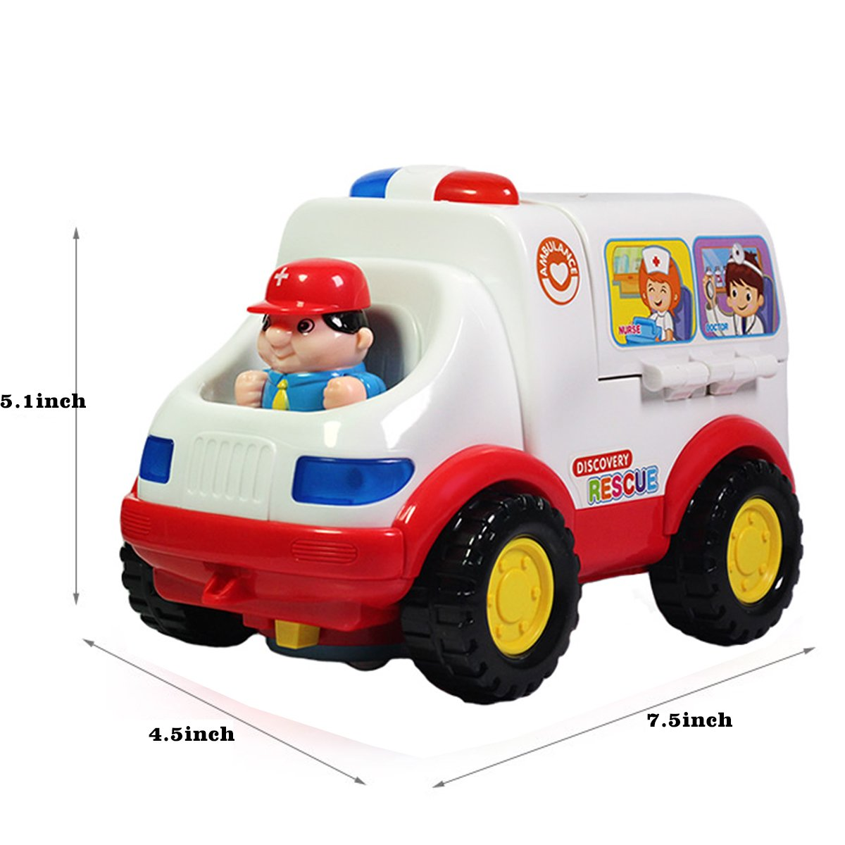 fisca Intellectual Musical School Bus, Learning Educational Toys for ...