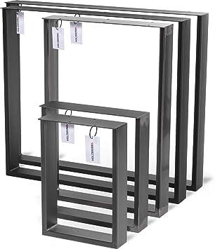 HOLZBRINK Patas de Mesa perfiles de acero 80x20 mm y barra plana 3 ...