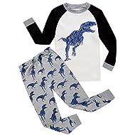 GoodLock Baby Boys Girls Fashion Clothes Set Toddler Kids Pajamas Cartoon Print Tops Pants Outfits 2Pcs