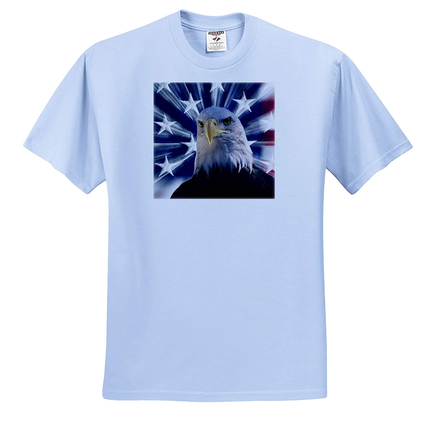 Composite of Bald Eagle and American Flag California America USA - Adult T-Shirt XL 3dRose Danita Delimont ts/_314647