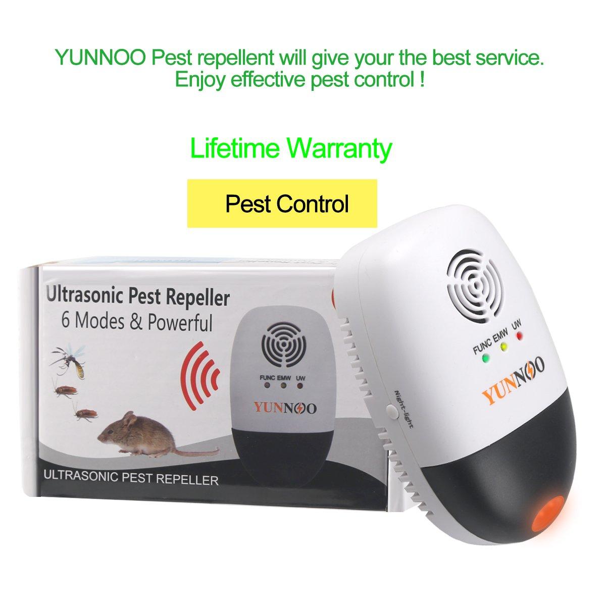 Yunnoo Ultrasonic Electromagnetic Pest Repellent Repeller Circuit Electronic Control Bug Black Garden Outdoor