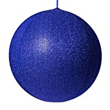 Red Sleigh Inflatable Decorative Ornament, Yard Christmas Decoration, Christmas Decoration for Businesses, Huge Christmas Ball Decoration Christmas Home (20 Inch, Blue Metallic Mesh)